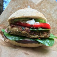 Courgette burger